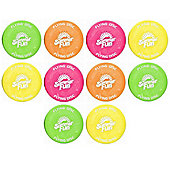 10 Summer Fun Flying Disks - Assorted Colours