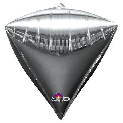 Diamondz Silver Diamond Shaped Balloon - 24 inch Foil