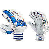 adidas SL Pro Cricket Batting Glove Adult White/Blue - Left Hand Small Mens