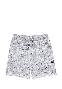 F&F Marl Drawstring Sweat Shorts - Grey