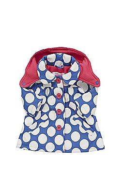 Babaluno Polka Dot Hooded Swing Jacket - Blue