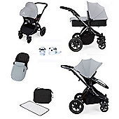 ickle bubba Stomp V2 AIO/Buggy Lights/Mosquito Net Travel System - Silver (Black Chassis)