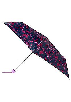 Totes Butterfly Print Supermini Umbrella - Purple & Black