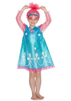 DreamWorks Trolls Poppy Dress-Up Costume 3-4 yrs Blue & Pink