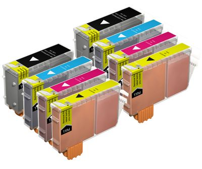 MoreInks 8 Ink Cartridges For Canon MP-F50 - Cyan/Magenta/Yellow/Black