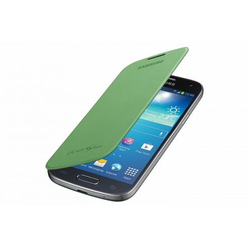 Samsung Original Flip Case For Galaxy S4 Mini - Lime Green