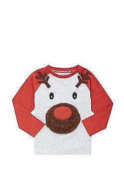 F&F Reindeer Christmas T-Shirt - Multi