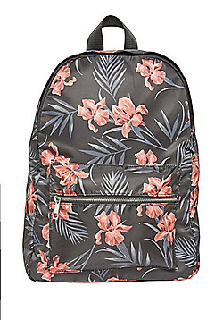 F&F Tropical Print Backpack - Black
