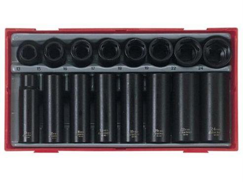 Teng TT9116 1/2-inch Reg/ Deep Impact Socket Set Drive (16 Pieces)