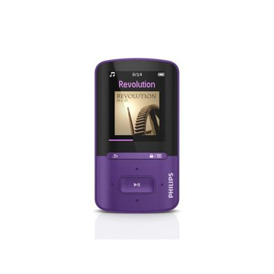 SA4VBE08VN-12 Vibe 8GB MP4 Player with SafeSound & FastCharge in Purple