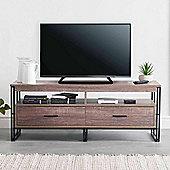 VonHaus TV Unit & Entertainment Storage with 2 Drawers