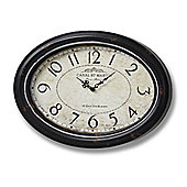 Canal St Martin Wall Clock - Oval