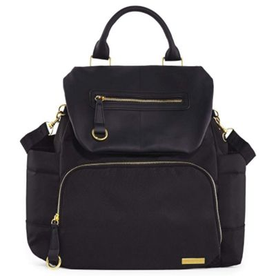 Skip Hop Chelsea Downtown Chic Backpack Changing Bag (Black)