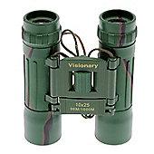 Visionary 10x25 Camouflage Compact Binoculars