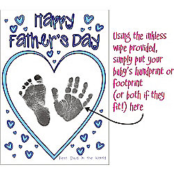 Father's Day Card Making Kit with YOUR Baby's Prints Son Daughter Footprints Handprints A5