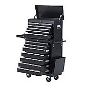 Homcom Rolling 16 Drawers Toolbox Cabinet Roller Cab Black