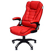Homcom Massage Office Computer Chair w/ Heat-Red