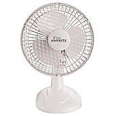 "White 6"" Inch Cooling Desk Fan"