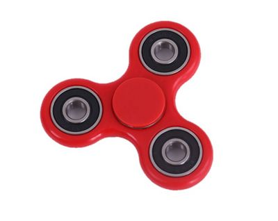 Red Hand Spinner Fidget Finger Toy ADHD Stress Relief