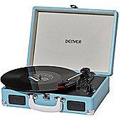 Denver VPL-120 Turquoise Vinyl Record Player
