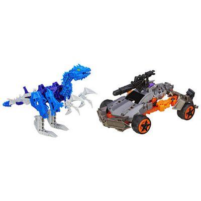Transformers Construct Bots Dinobot Warriors Lockdown and Hangnail Dino