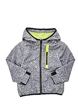 F&F Shower Resistant Speckled Rain Mac - Black & Multi