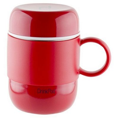 Grunwerg Pioneer Vacuum Insulated Drink Pod Mug with Handle Red 280ml