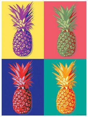 Pop Art Pineapples Mini Poster 32x44cm