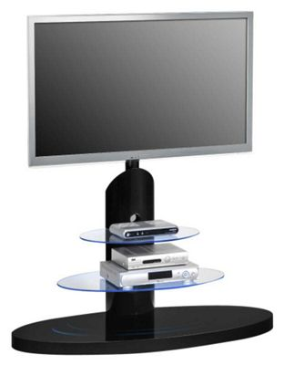 Maja 1636 Black Cantilever TV Stand