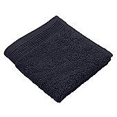 Homescapes Black Supreme Luxury Face Cloth 700 GSM Egyptian Cotton, 30 x 30 cm