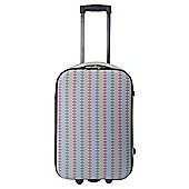 Tesco Geo Print 2 Wheel Cabin Case
