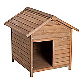 PawHut Wooden Dog Kennel Pet House Removable Floor Apex Roof (79L x 89W x 82H cm)