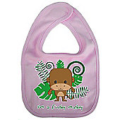 Dirty Fingers I'm a Funky Monkey Baby Cute Bib Pink