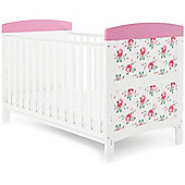 OBaby Grace Inspire Cot Bed (Cottage Rose)