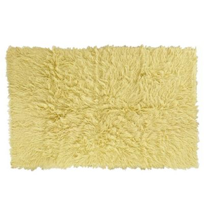 Yellow Flokati Rug - 1400g/m2 - 60x120cm