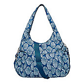 B Baby Slouch Changing Bag - Teal Scratch