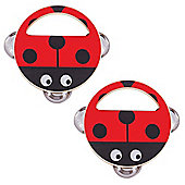 Bigjigs Toys Wooden Hand Shakers (Pack of 2 - Ladybird) - Musical Toys