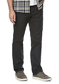 F&F Coated Stretch Straight Leg Jeans - Grey