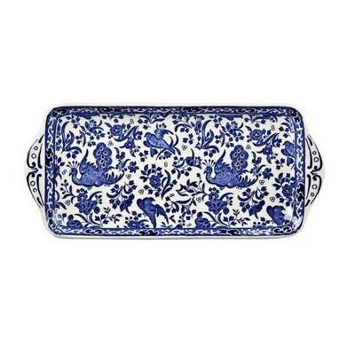 Burleigh Blue Regal Peacock Sandwich Tray 28cm