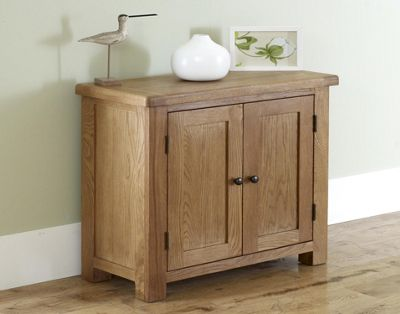 Worcester - Oak Storage Cupboard / 2 Door Cabinet