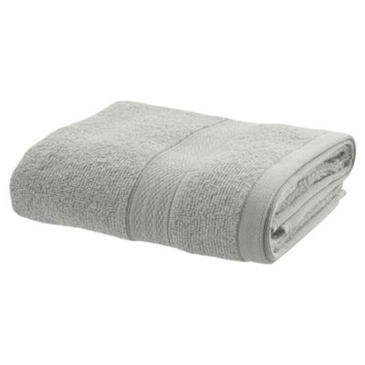 TESCO ZERO TWIST HAND TOWEL SILVER