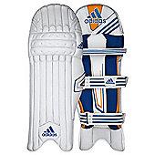 adidas CX11 Kids Cricket Batting Pads White/Blue - Right Hand Small Boys