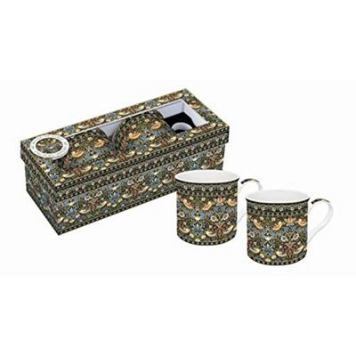 Stow Green Art Around the World Collection William Morris Strawberry Thief Mugs Boxed Set of 2
