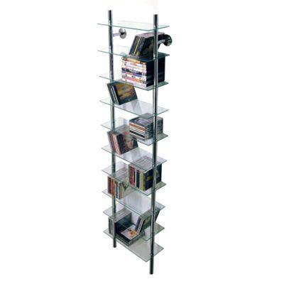 Wall Mounted Glass CD / Media/ Bathroom Storage Shelves