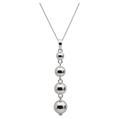 Sterling Silver Ball Drop Necklace