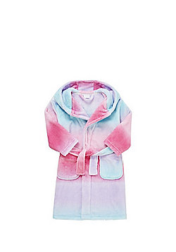 F&F Ombre Fleece Dressing Gown - Multi