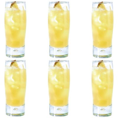 Durobor Bubble Hiball Cocktail Drinking Glass - 395ml - Pack of 6 Glasses