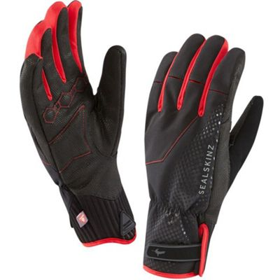 SealSkinz Brecon XP Cycling Glove Black/Red Size: S