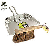 Charles Bentley Heavy Aluminium Dustpan & Stiff Hand Brush