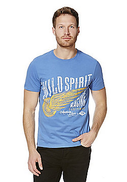 F&F Wild Spirit T-Shirt with As New Technology - Blue